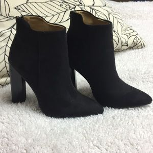 Gorgeous black suede ankle booties